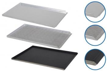 Plaque de cuisson aluminium 600x400mm - 3 bords droits 90°, 1 bord incliné 45°