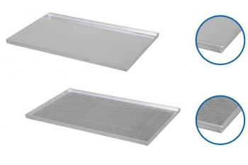 Plaque de cuisson aluminium 600x400mm - 4 bords droits 90°