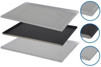Plaque de cuisson aluminium 600x800mm - 3 bords droits 90°, 1 bord incliné 45°