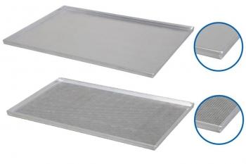 Plaque de cuisson aluminium 600x800mm - 4 bords droits 90°