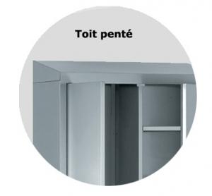 Option toit penté pour armoire vestiaire métallique