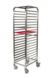 Chariot pâtissier 600X400 20 Niveaux - Spécial plateaux / plaques à bords 45°