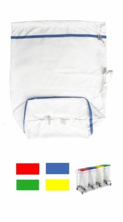 Sac à linge rectangulaire 100L - Avec liseré de couleur