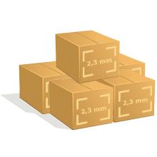 5 Cartons de 500 cintres fer pressing
