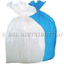 Sac poubelle 20L Blanc ou Bleu - Lot de 1000 sacs