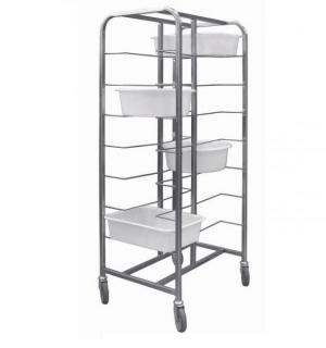 Echelle inox 2x8 niveaux - Pour bacs à pâtes / Bacs à diviseuse