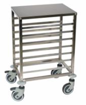Chariot échelle bas 7 niveaux pour grille 600x400