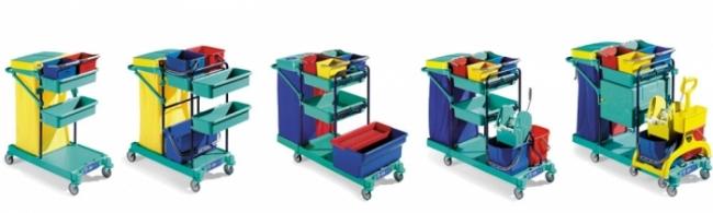 Chariots de ménage - Matériel médical et équipement pour hôpitaux
