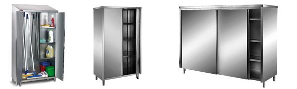 Armoires de rangement INOX - Equipement Maison de repos / EHPAD