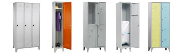 Armoires vestiaires métalliques - Matériel / Equipement EHPAD - Maison de repos