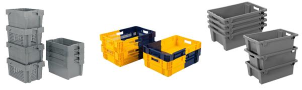 Bacs Plastiques Euronorm Gerbables et emboitables - Equipement / Matériel EHPAD
