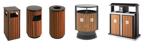Poubelle d'extérieur en bois - Equipement collectivité et mairie
