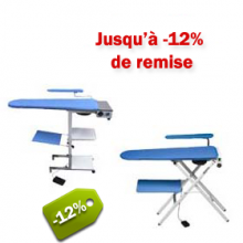 Tables à repasser pliantes