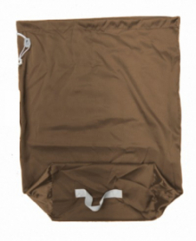 Sac à linge rectangulaire 70L MARRON