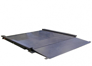 Plateforme de pesage du linge ACIER avec 1 rampe incluse, portée 150 à 3000kg. ( PLP Acier )