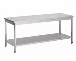 Table de cuisine en acier INOXYDABLE  - soudée/monobloc - Largeur 600mm