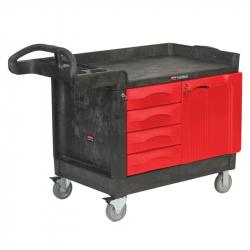 Chariot de travail - 4 tiroirs, 1 porte