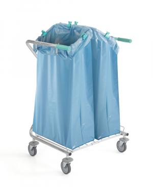 Chariot porte sac à déchets fixe DUST - 2x120L