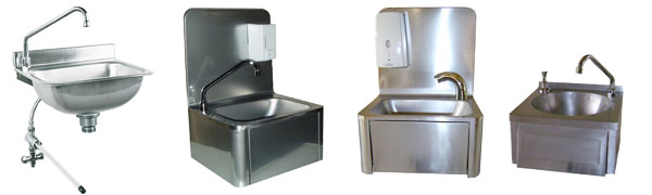Lave-mains complets inox