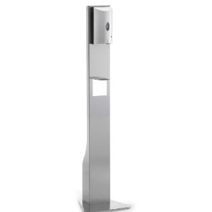 Distributeur de gel hydroalcoolique automatique INOX- Sur pied