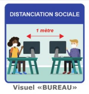 Affiches de prévention sanitaire - DISTANCIATION SOCIALE