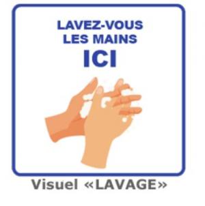 Affiches de prévention sanitaire - LAVAGE DES MAINS