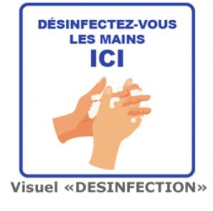 Affiches de prévention sanitaire - DESINFECTION DES MAINS