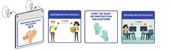 Affiche de prévention sanitaire - Equipement collectivité et mairie