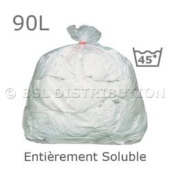 Sac à linge entièrement soluble 90L - Eau chaude