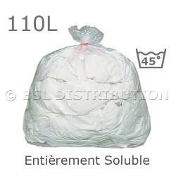 Sac à linge entièrement soluble 110L - Eau chaude