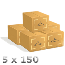 5 Cartons de 150 cintres incassables