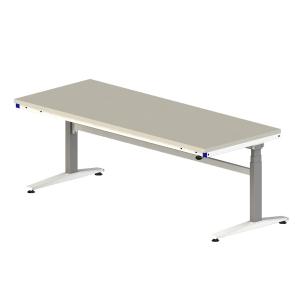 Table ergonomique mélaminée à hauteur réglable- Motorisée