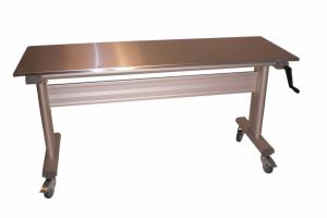 Table ergonomique inox à hauteur réglable - Manuelle