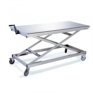 Table ergonomique inox à hauteur réglable- Manuelle