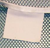 Etiquette de marquage sur filet de lavage