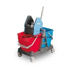 Chariot double seau de nettoyage
